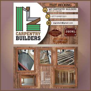 MZ Carpentry Builders Business Cards